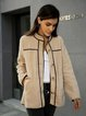 Apricot Casual Long Sleeve Outerwear