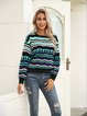 Green Holiday Cotton-Blend Crew Neck Sweater