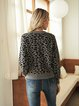 Gray Cotton-Blend Sweater