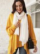 White Casual Scarves & Shawls