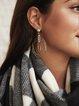 Silver Alloy Vintage Earrings