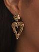 Golden Alloy Elegant Earrings