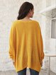 Yellow Long Sleeve Paneled Cotton-Blend Shirts & Tops