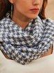 Blue Plain Elegant Scarves & Shawls