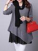 Asymmetric Long Sleeve Casual Dress