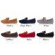 Suede Flat Heel Bowknot Fleece Lined Loafers