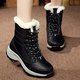 Waterproof Non-slip Lace-up Fleece Lined Boots