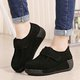 Magic Tape Casual Suede Platform Loafers