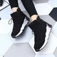 Athletic Fleece Lined Cloth Platform Slip On Boots
