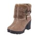 Non Slip High Heel Faux Suede Fuzzy Zipper Boots