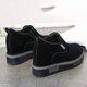 Suede Ati-slip Slip On Wedge Heel Shoes