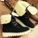 Convertible Suede Lace-up Fleece Lined Not-slip Boots