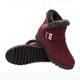 Suede Wedge Heel Fleece Lined Buckle Slip On Boots