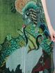 Multicolor Vintage Printed A-line Midi Dress