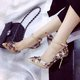 Sequin Rhinestone Applique Buckle Strap Wedding Pumps