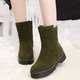 Convertible Faux Suede Outdoor Non Slip Snow Boots