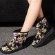 Floral Print Faux Suede Fleece Lined Snow Boots