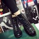 Lace-up Zipper Chunky Heel PU Martin Boots