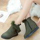 Non Slip Fuzzy Wedge Heel Casual Zipper Boots