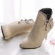 Women Zipper Bowknot High Heel Boots