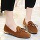 Bowknot Fleece Lined Slip On Low Heel Loafers
