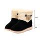 Fuzzy Rhinestone Fringed Platform Non Slip Boots