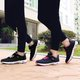 Breathable Mesh Platform Magic Tape Lace-up Sneakers