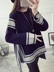 Casual Knitted Long Sleeve Knitted Solid Sweater