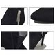 Casual Rhinestone Tassel High Heel Zipper Boots