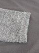 Gray Paneled Casual Cowl Neck Sheath Sweatshirt
