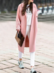 Women's Trench Coat Solid Color Long Sleeve Casual Coat